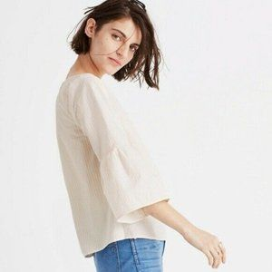 Madewell G2081 Striped Swingy Bell-Sleeve Top